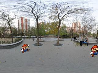 北京=—冬日里的松榆里社区公园
