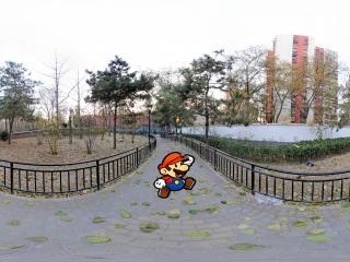 北京—冬日里的松榆里社区公园