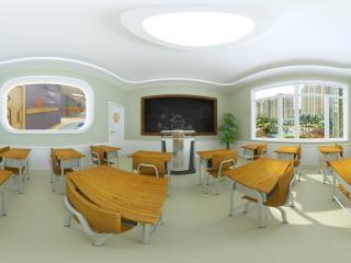 山西—晋中幼儿园二层教室设计全景