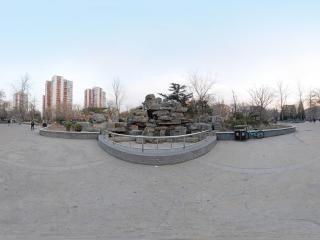 北京—朝阳区冬日里的松榆里社区公园
