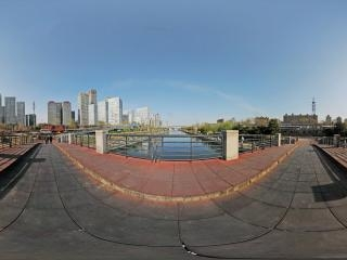 北京—朝阳区通惠河畔全景