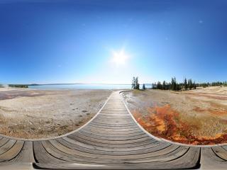 黄石公园旅游区全景
