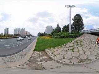 北京—丰台六里桥街景全景
