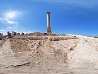 亚历山大-庞贝石柱全景
