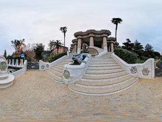 西班牙—巴塞罗那高迪公园全景