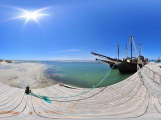 突尼斯—杰尔巴海滨港口全景