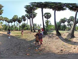 柬埔寨红色高棉村庄全景