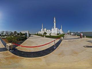 阿布扎比清真寺全景