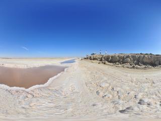 突尼斯—杰瑞盐湖全景