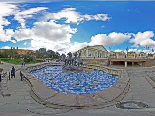 雕塑喷泉虚拟旅游