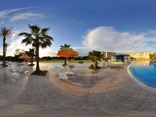 突尼斯拉曼达酒店游泳池全景