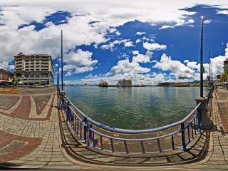 毛里求斯路易港全景