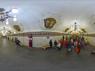 俄罗斯地铁站虚拟旅游