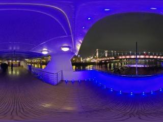 莫斯科河夜景全景