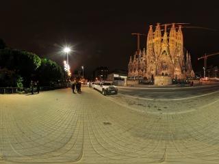 圣家族大教堂夜景全景
