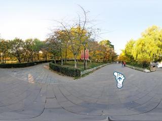 北京—海淀秋日玉渊潭公园全景