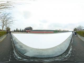 北京—故宫博物院雪景(一)全景