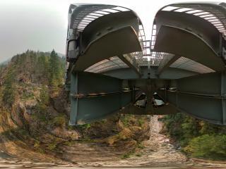 美国-华盛顿州北瀑布森林全景