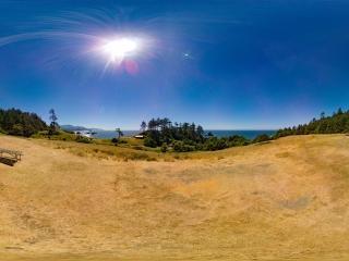 美国-艾克拉州立公园印第安海滩全景