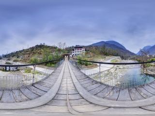 阴平村吊桥全景