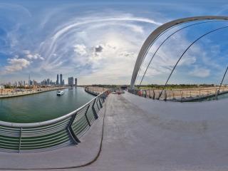 迪拜运河全景