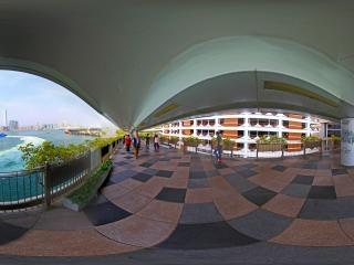 香港港澳码头全景