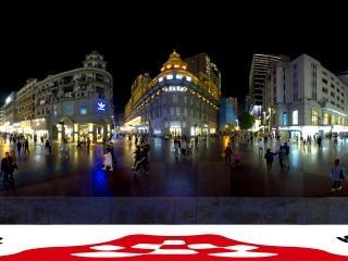 夜景——江汉路步行街全景