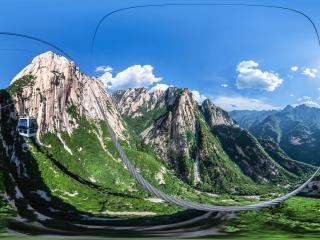 华山西峰观光大索道虚拟旅游