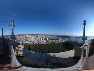 塔顶俯瞰旅顺节点二全景