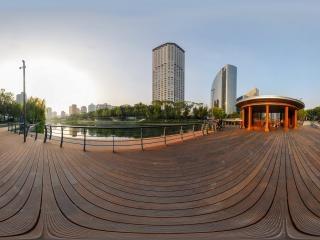 北京—亮马河畔之秋全景