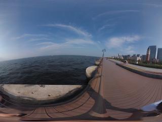 大连东港海边全景