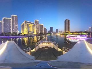 海河夜景—津门周边风光全景