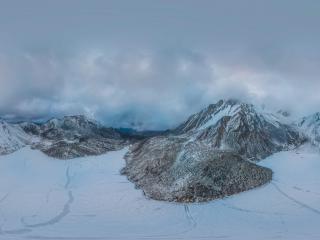 那拉措-雪景全景