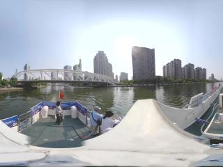 海河日景—进步桥周边风光全景