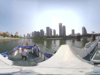 海河日景游—金汤桥周边风光全景