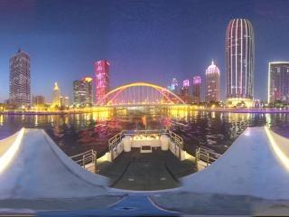 海河夜景—大沽桥周边风光全景