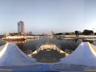 海河夜景—大悲院码头沿线风光全景