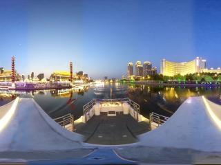海河夜景—古文化街周边风光全景