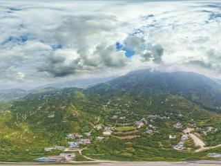 云上村庄航拍全景