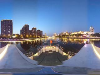 海河夜景—奥式风情区沿线风光全景
