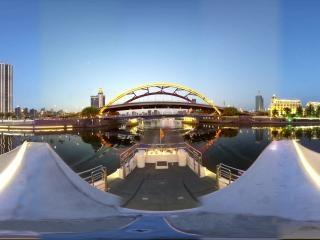 海河夜景—金钢桥全景