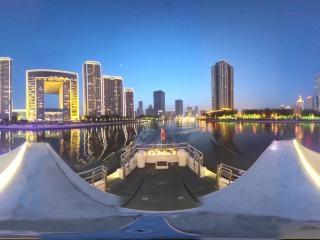 海河夜景—大沽桥至北安桥景观全景